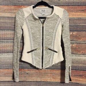 Lucky Lotus Lucky Brand zip up tweed jacket